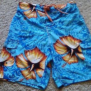Men Bermuda swim short sz M